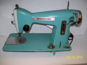 Vintage Domestic (White) Sewing Machine